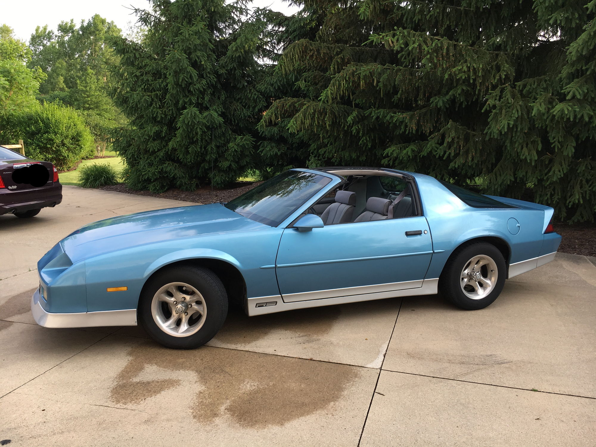 Michigan 1989 Blue Camaro Rs T Tops Third Generation F