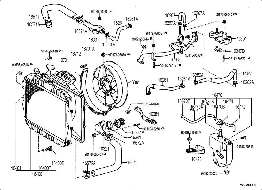 95 4runner 3 0 Coolant Leaks 288404 on 1990 toyota celica parts diagram