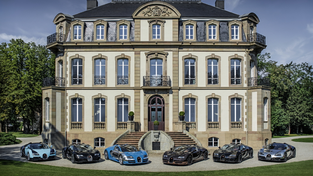 All six Bugatti Veyron Legends in Molsheim, France