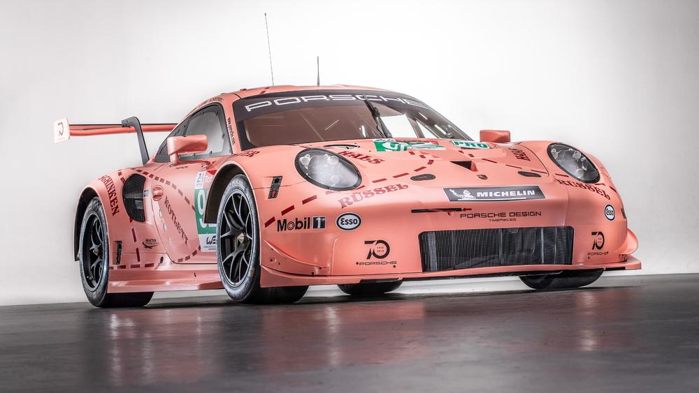 Porsche 911 RSR in Pink Pig livery