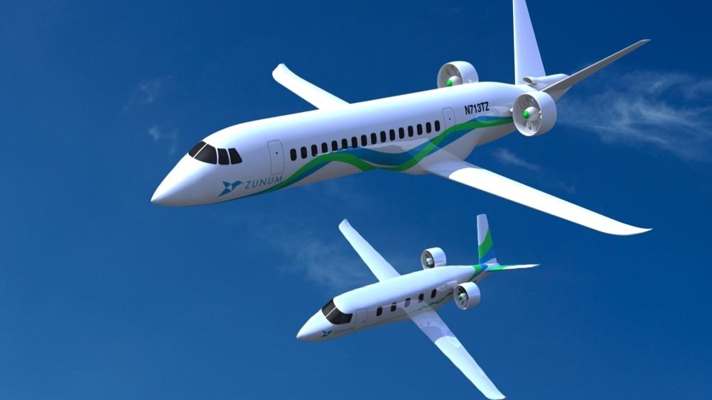 Zunum range-extended electric regional jet - concept design