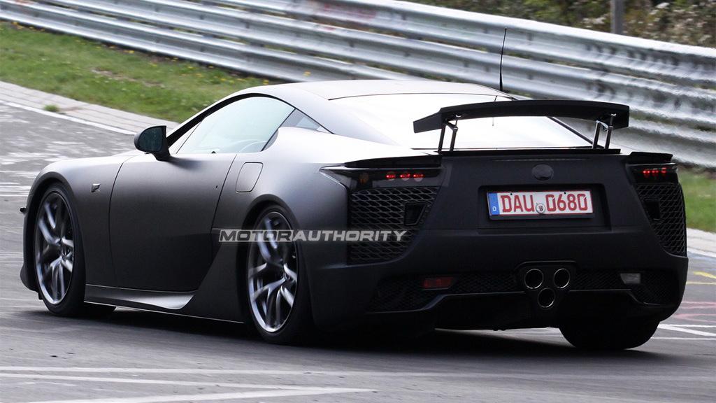 Lexus LF-A spy shots