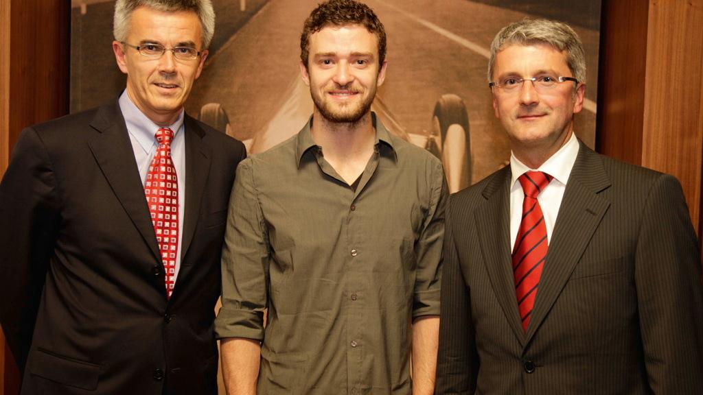 Audi brand ambassador Justin Timberlake