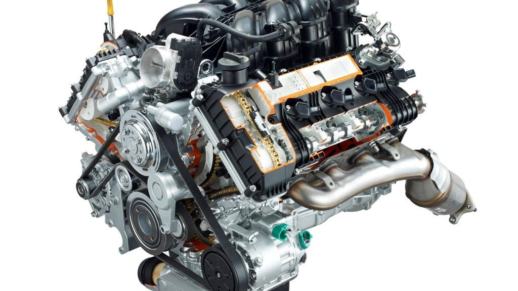 429 horsepower 5.0-liter Tau V-8