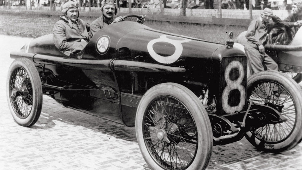 Louis Chevrolet at the 1916 Indy 500