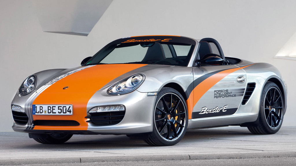 Porsche Boxster E electric car prototype
