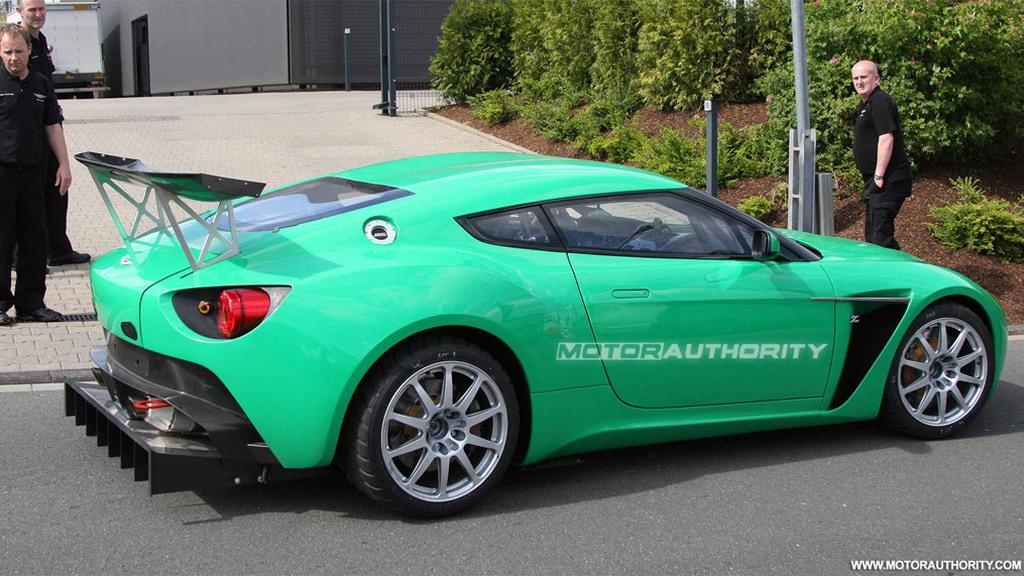 Aston Martin V12 Zagato race car spy shots