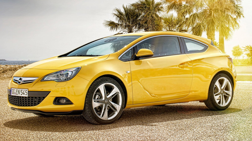 Opel Astra GTC three-door hatchback