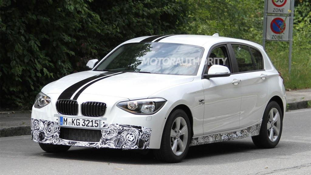 2012 BMW 1-Series Hatchback M Sport Accessories spy shots