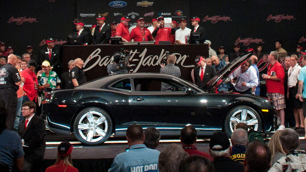 First 2012 Chevrolet Camaro ZL1 at Barrett-Jackson auction in Las Vegas