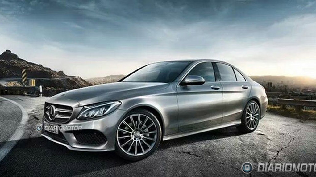 2015 Mercedes-Benz C-Class with possible AMG sports pack leaked - Image via Diariomotor