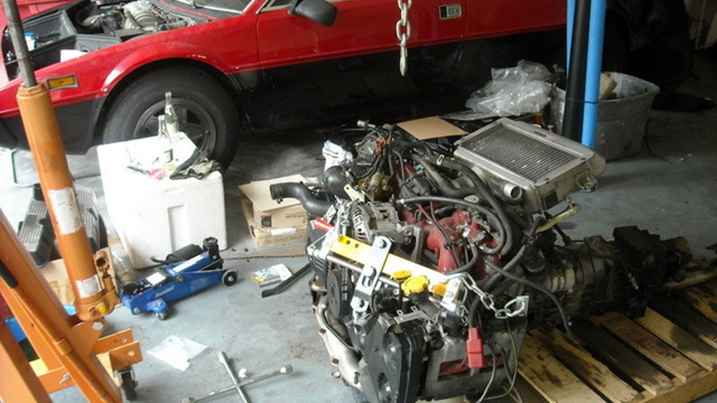 1976 Ferrari Dino 308 GT4 Subaru engine swap Photo by owner crankwalk