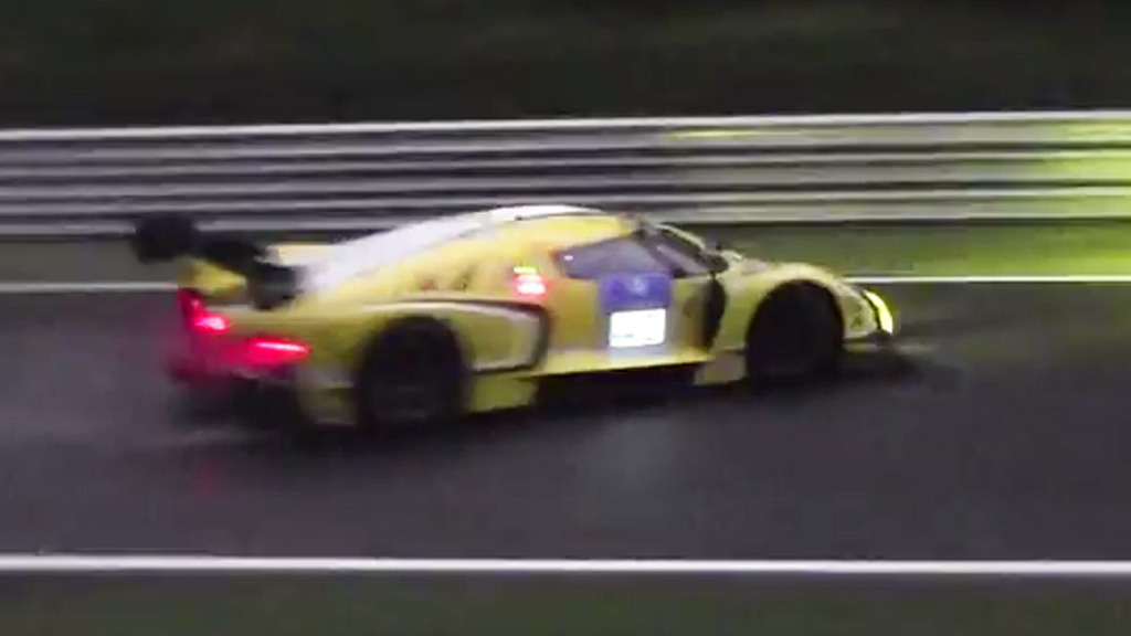Scuderia Cameron Glickenhaus SCG003 moments before Nürburgring crash