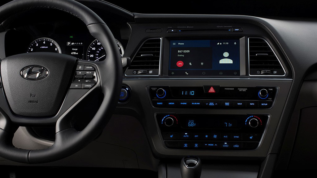 2015 Hyundai Sonata equipped with Google's Android Auto