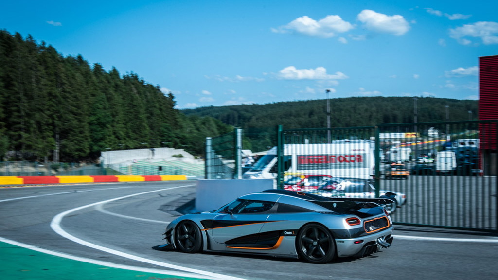 Koenigsegg One:1 at the track