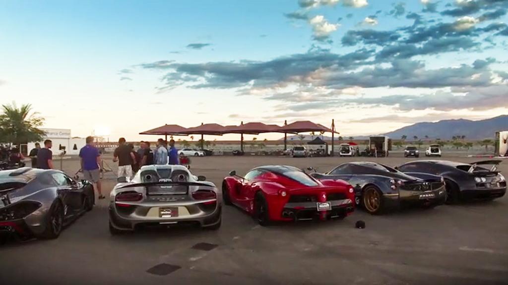 Scene from 'Hyper 5' supercar shootout