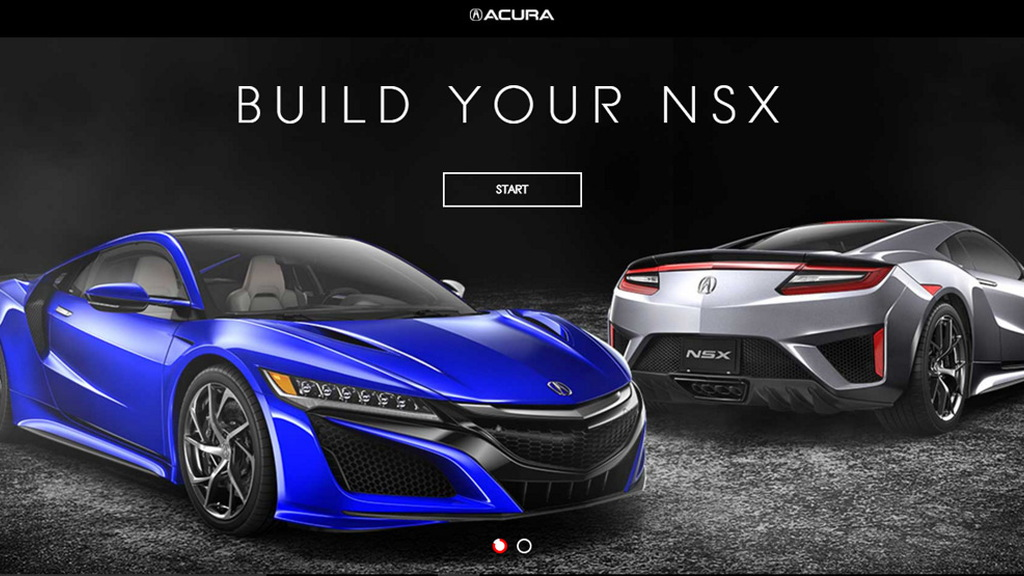 2017 Acura NSX online configurator