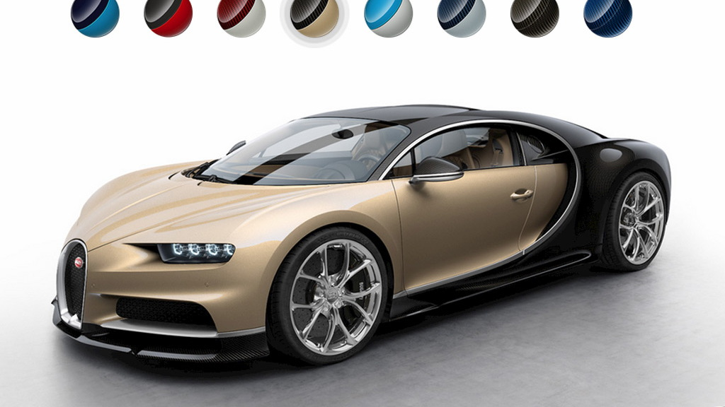Bugatti Chiron configurator