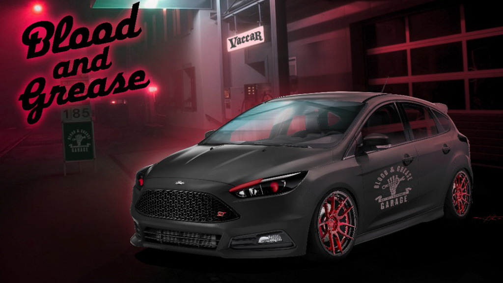 2016 Ford Focus ST by Blood & Grease, 2016 SEMA show