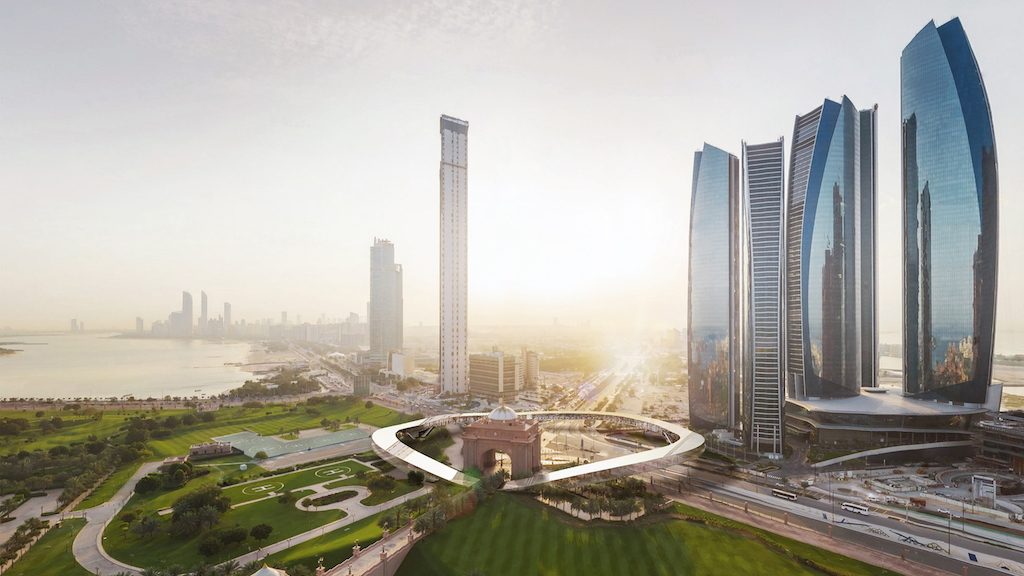 Hyperloop One concept drawing for system bridging Abu Dhabi and Dubai