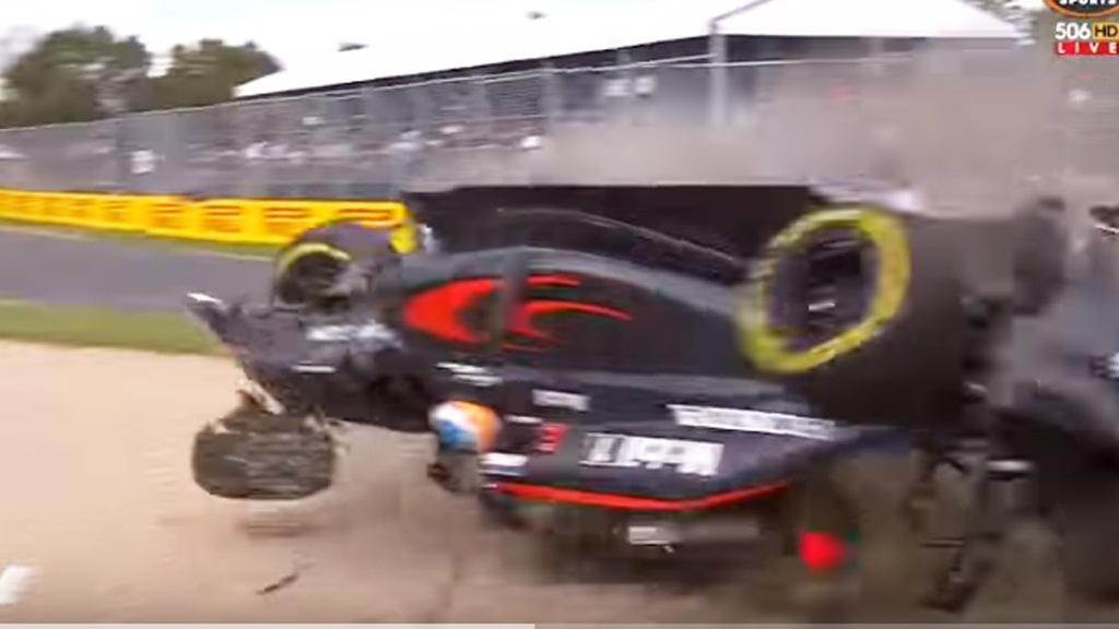 Crash during 2016 Formula One World Championship