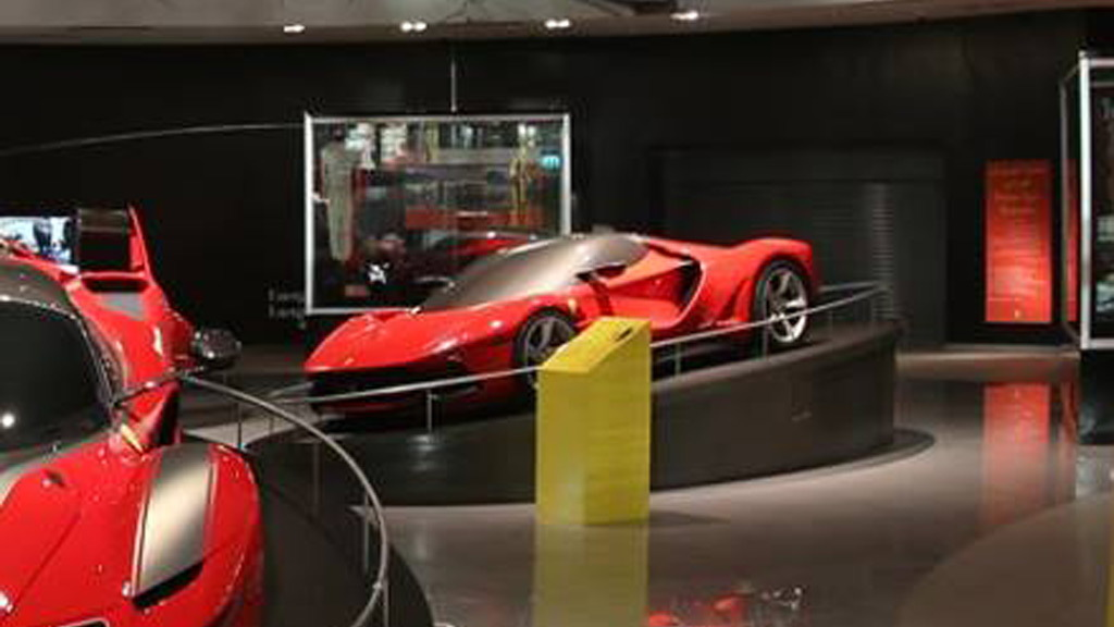 Ferrari LaFerrari design study on display at Galleria Ferrari, Ferrari World Abu Dhabi