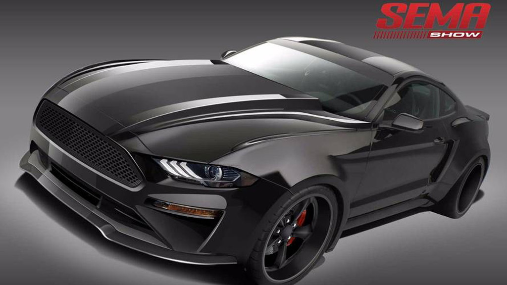 2018 Ford Mustang by DeBerti Design, 2017 SEMA show