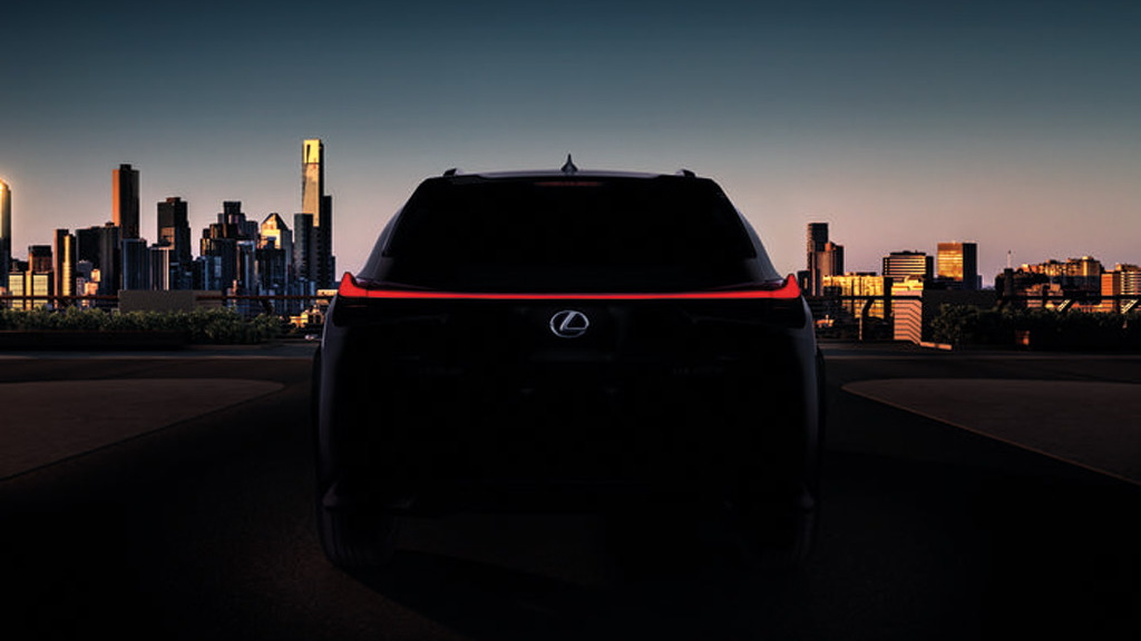 Teaser for 2019 Lexus UX debuting at 2018 Geneva auto show