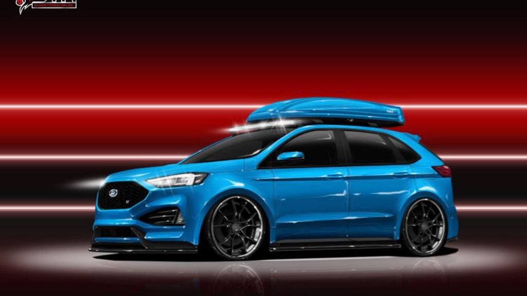 Teaser for 2019 Blood Type Racing Ford Edge ST debuting at 2018 SEMA show