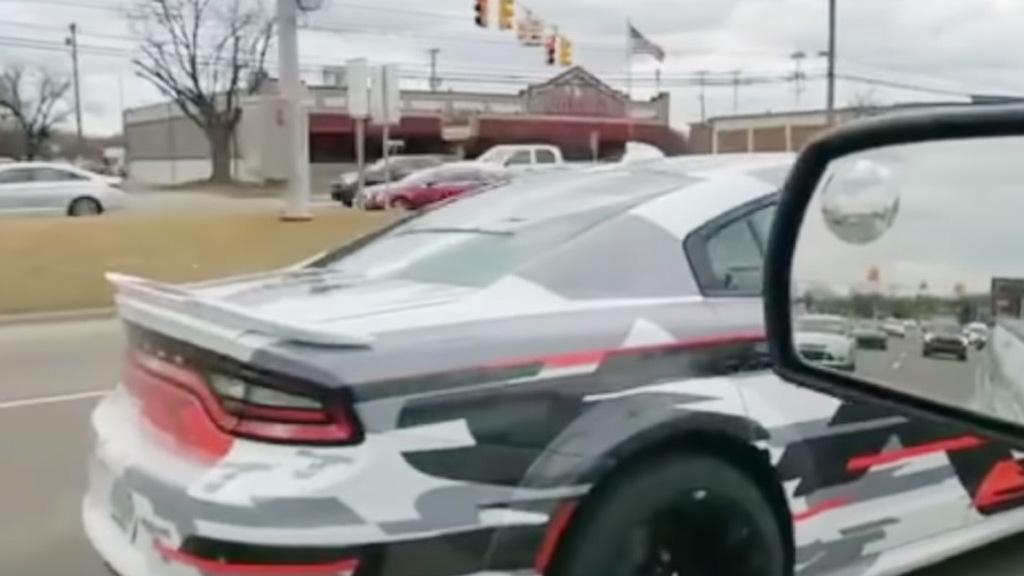 Dodge Charger widebody spotted in Detroit - Image via ZL1_dre_2c/Instagram