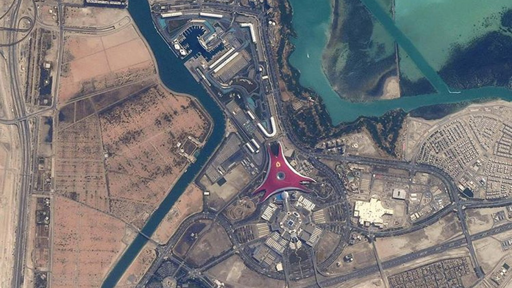 Photo of Yas Marina Circuit from International Space Station - Image via astro_feustel/Instagram