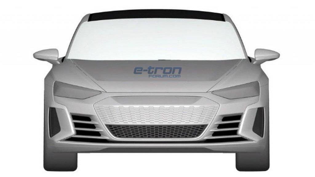 Audi e-tron GT patent sketch via e-tron Forum