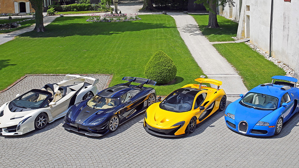 Seized supercars of Teodoro Nguema Obiang Mangue - Image via Bonhams