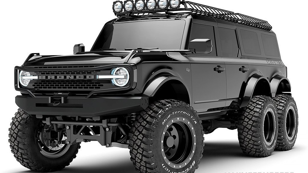 2021 Ford Bronco 6x6 conversion - Photo credit: Innov8 Design Lab/Maxlider Brothers Customs