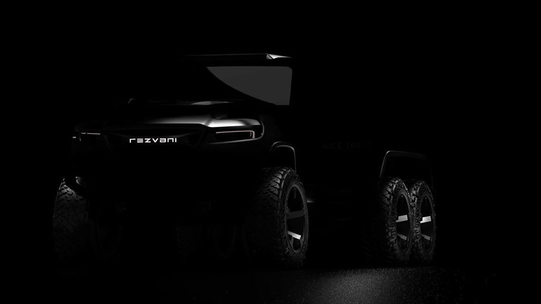 Teaser for Rezvani Hercules 6x6 debuting summer 2020