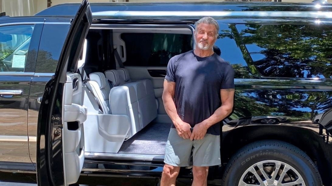 Sylvester Stallone's stretched Cadillac Escalade ESV (photo by Becker Automotive Design)
