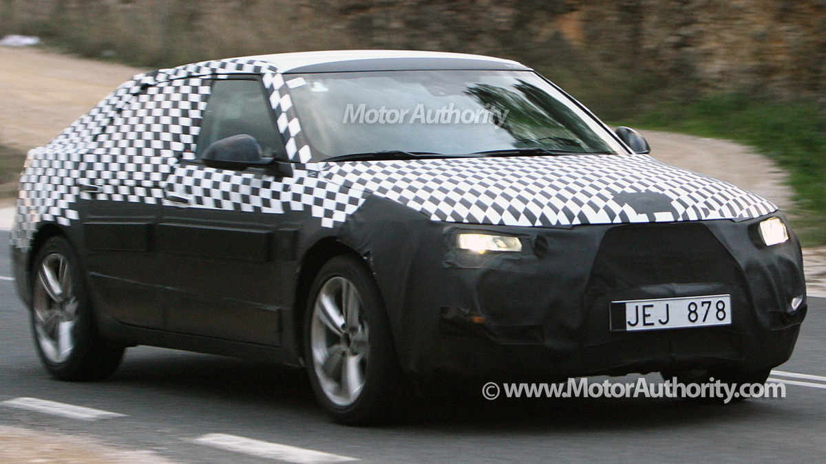 2010 saab 9 5 spy shots january 002