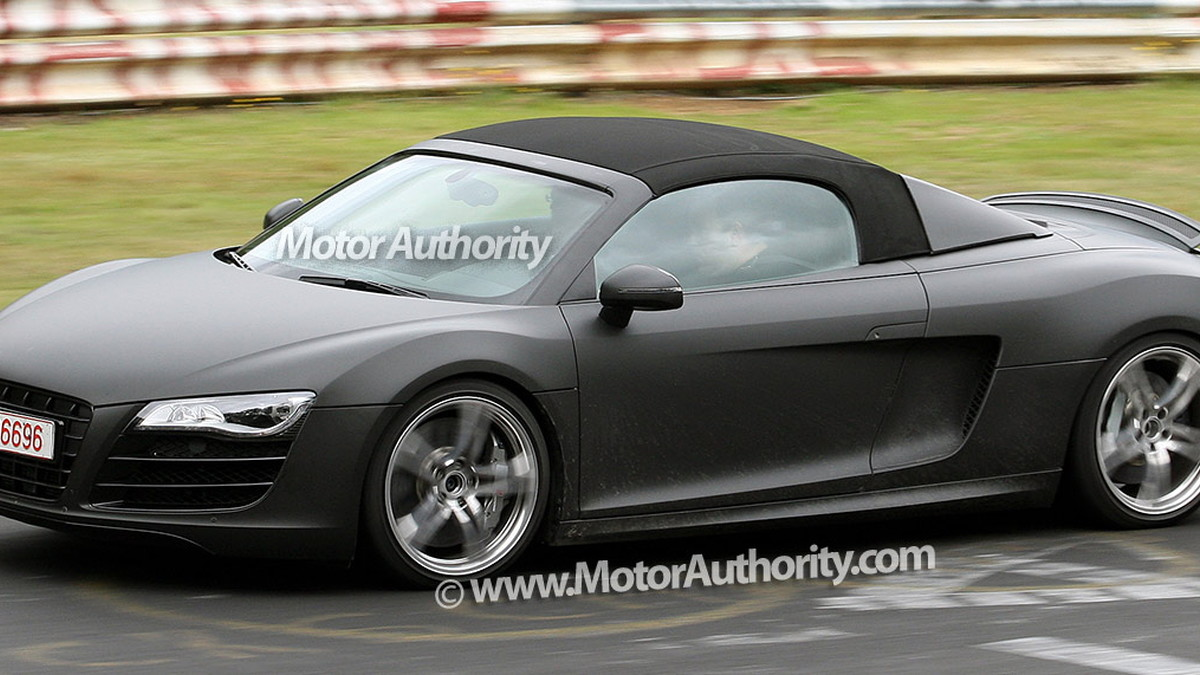 audi r8 spider spy shots nurburgring 004