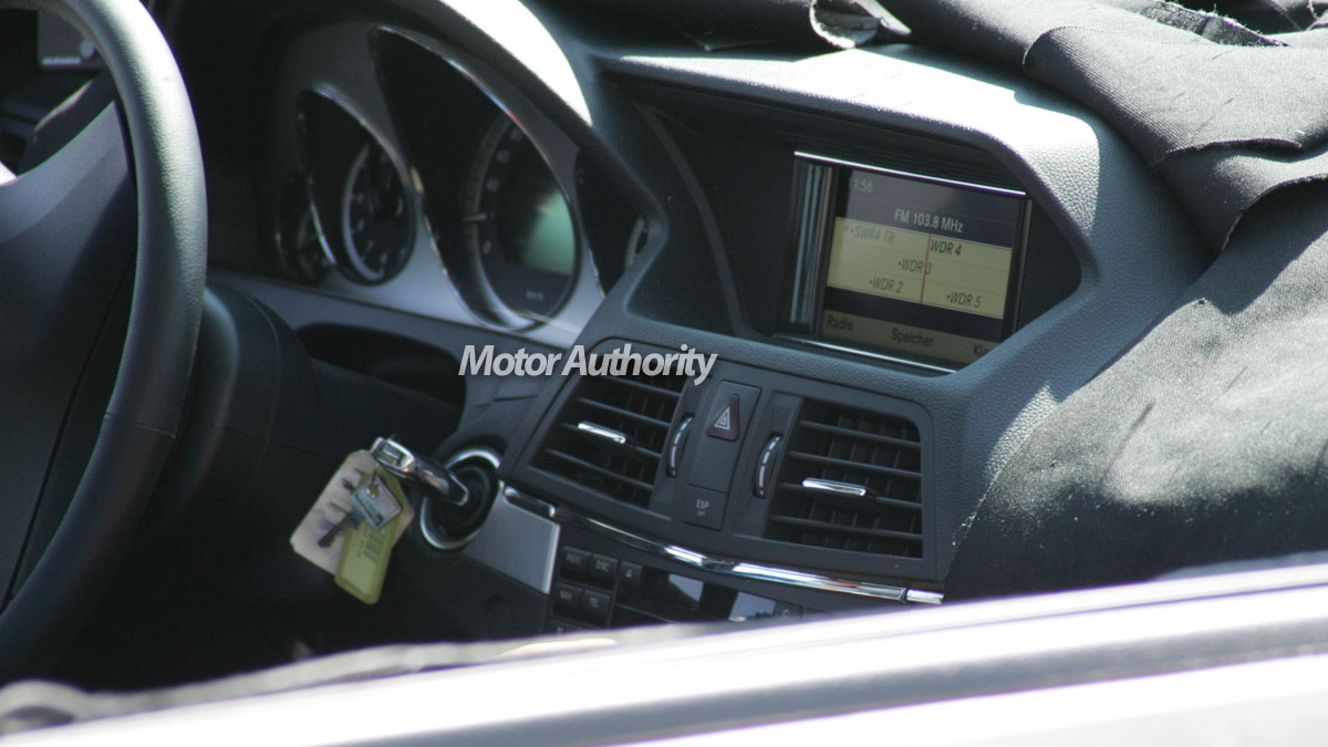 mercedes clk interior spy motorauthority 02