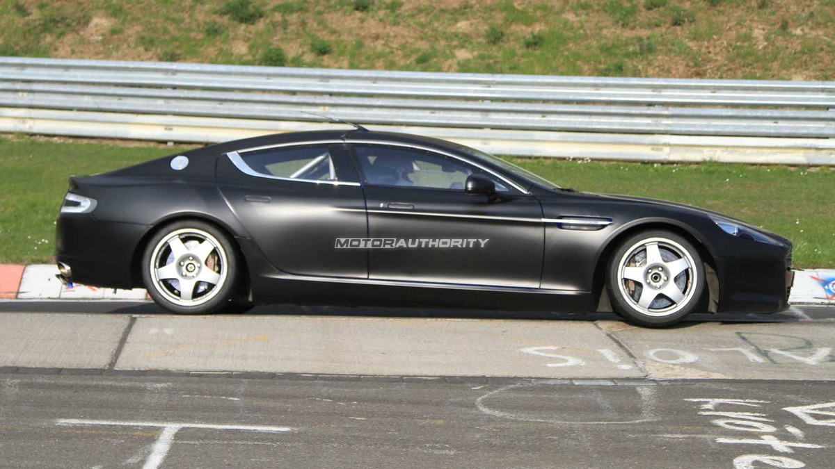 Aston Martin Rapide race car spy shots