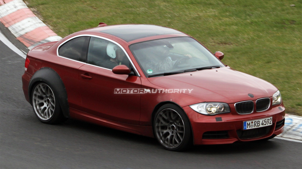 BMW 1-Series M Car or 'M1' spy shots