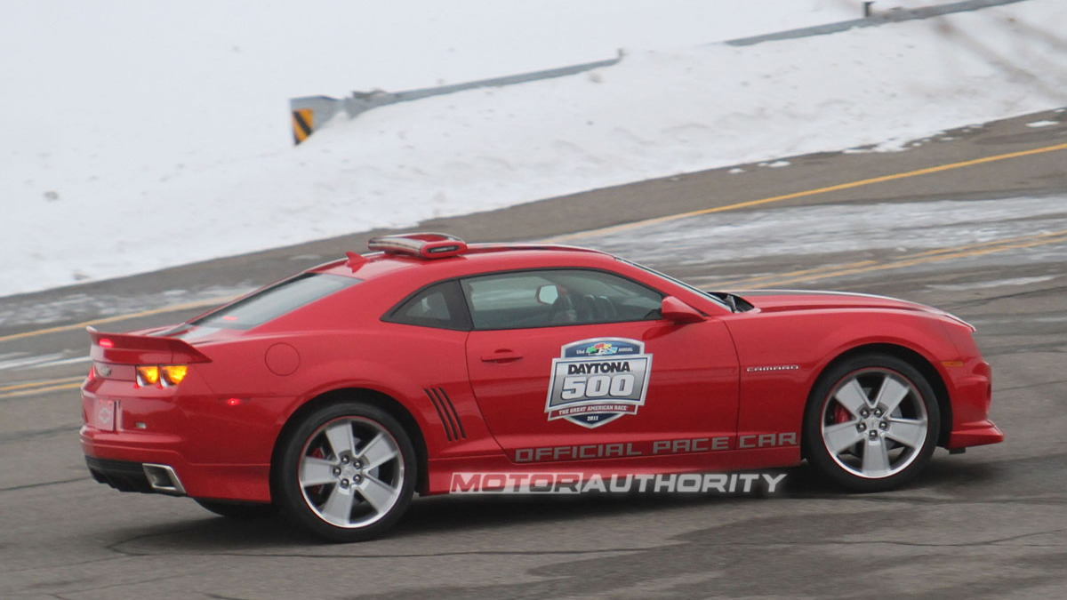 2011 Chevrolet Camaro SS Daytona Pace Car spy shots