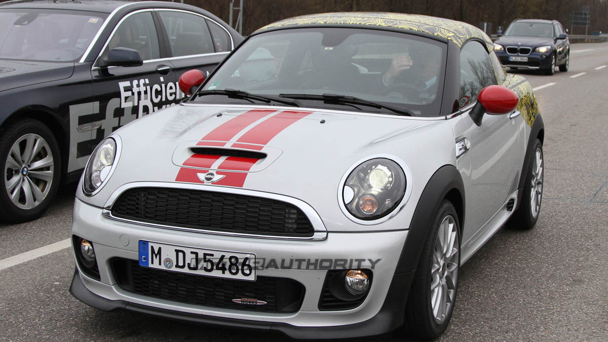 2012 MINI Coupe JCW spy shots