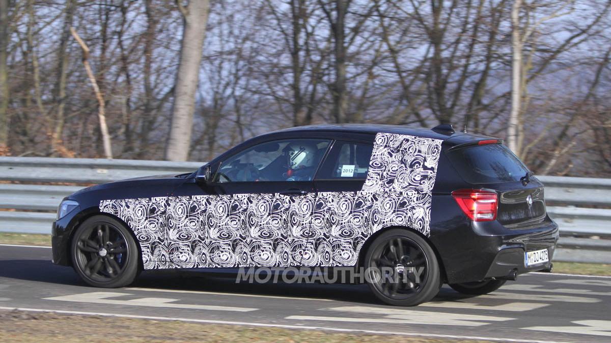 2012 BMW 135i three-door hatchback spy shots