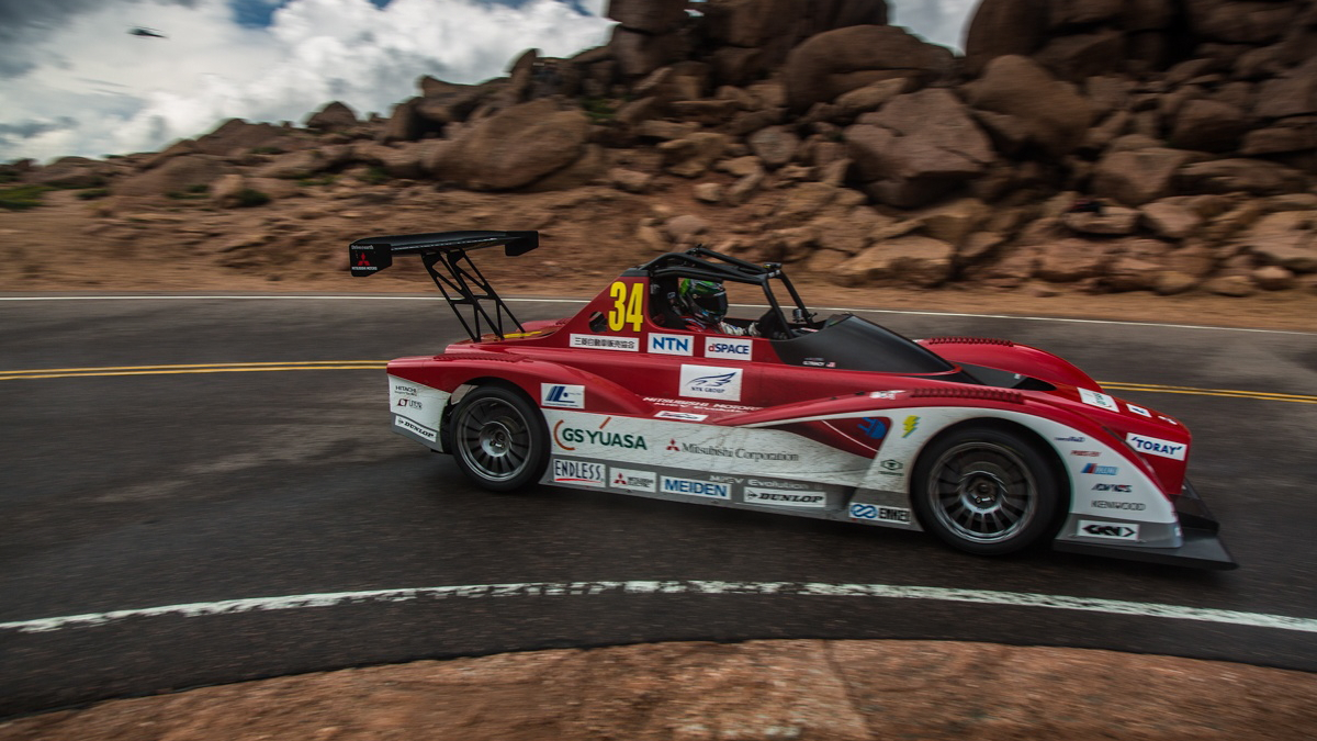 Mitsubishi MiEV Evolution II at the 2013 Pikes Peak International Hill Climb