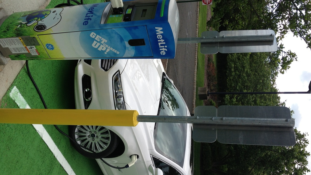 MetLife electric-car charging station for employee use