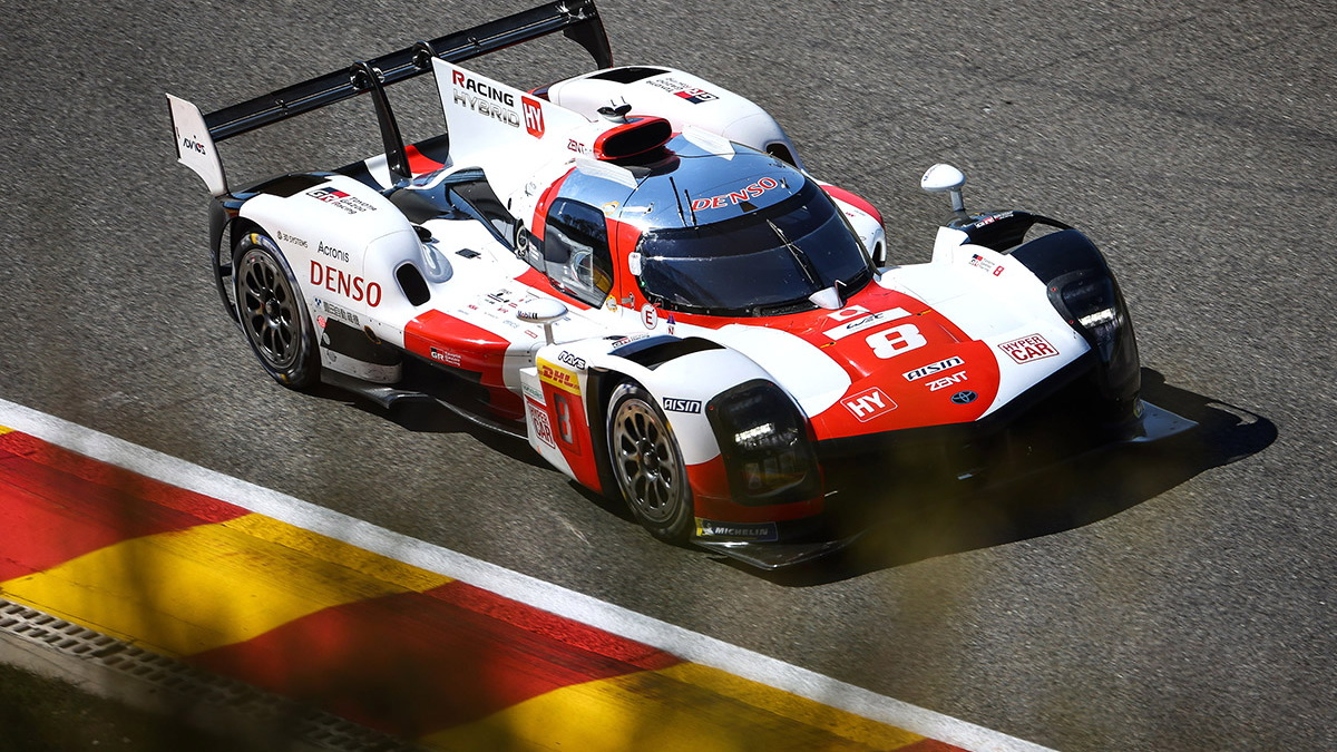 Toyota GR010 Hybrid LMH race car at the 2021 6 Hours of Spa