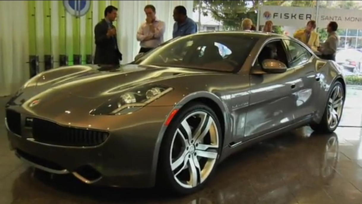 2011 Fisker Karma plug-in sports sedan at Fisker Santa Monica, July 2010, from WebRidesTV