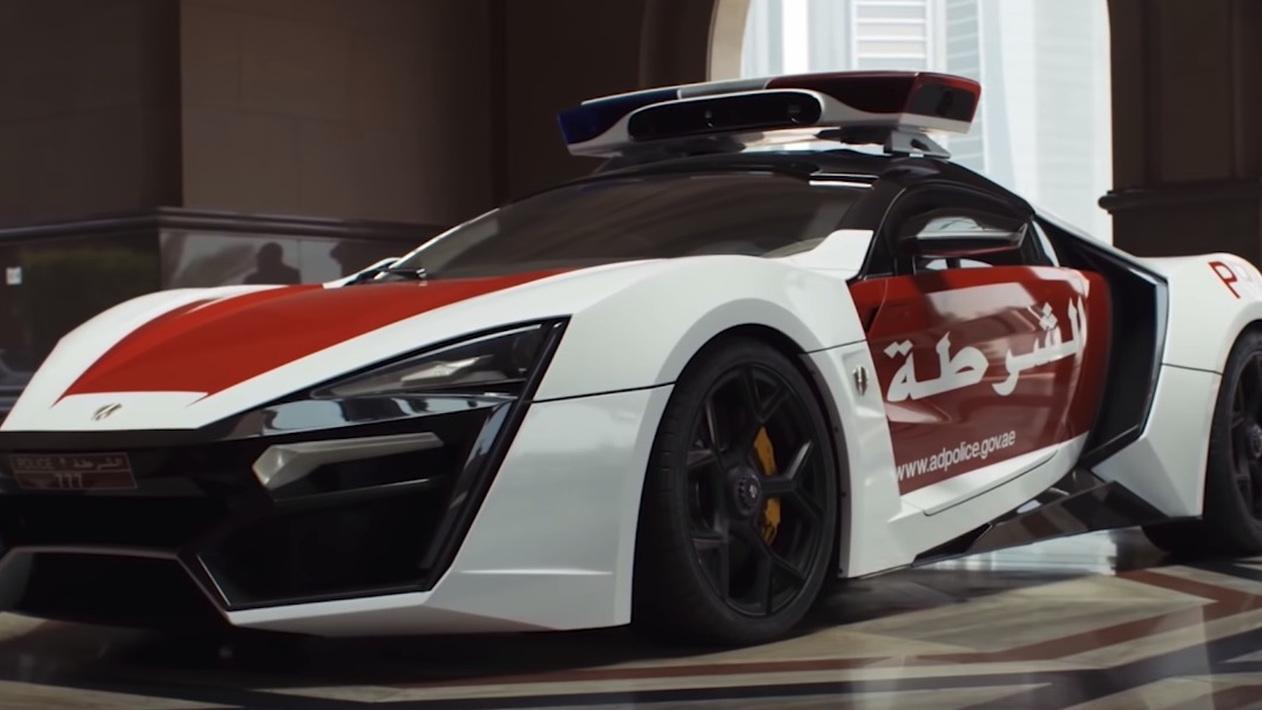 W Motors Lykan Hypersport police car