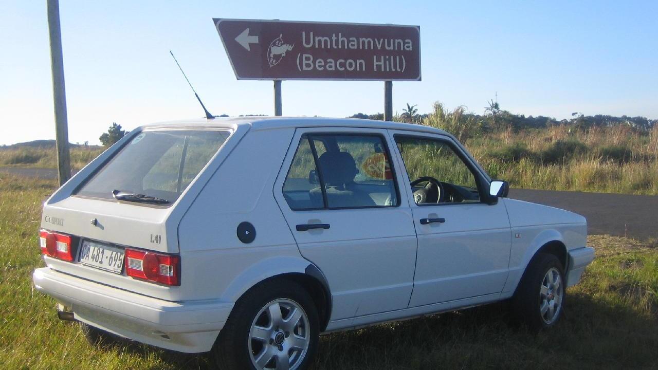 2009 Volkswagen CitiGolf at Umthamvuna Nature Preserve, KwaZulu-Natal, South Africa